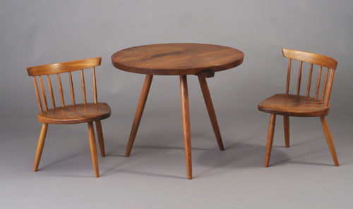 Walnut Table And Chair Set